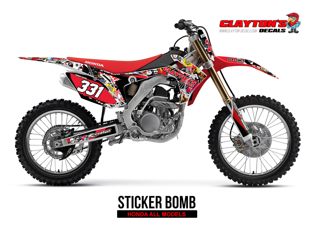 Honda MX Graphics - Sticker Bomb