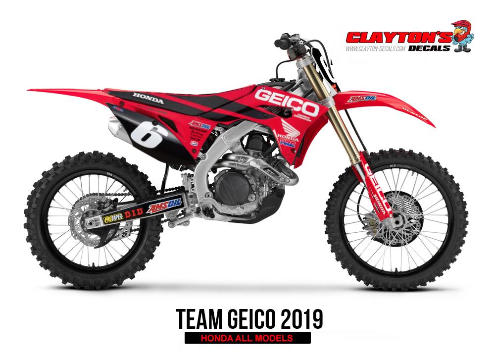 Honda MX Graphics - Team Geico Honda Replica 2019