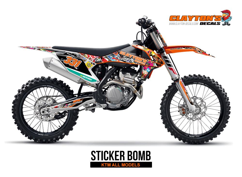 KTM MX Graphics - Sticker Bomb