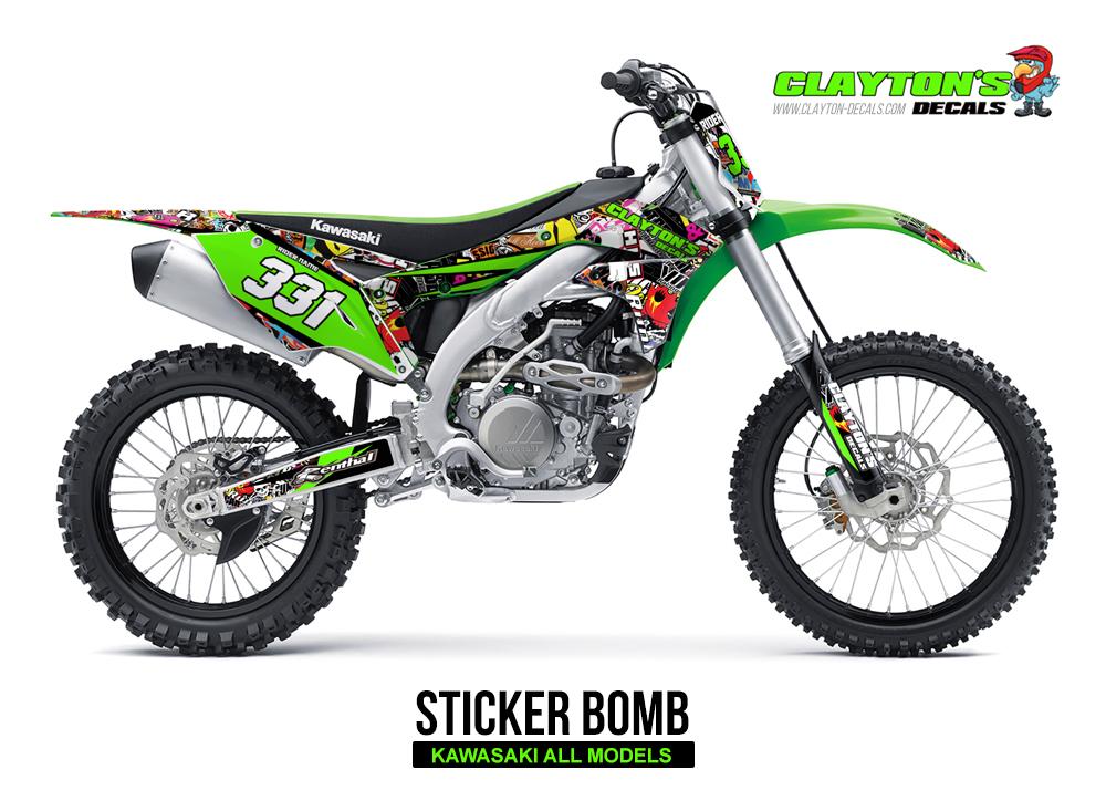 Kawasaki MX Graphics - Sticker Bomb