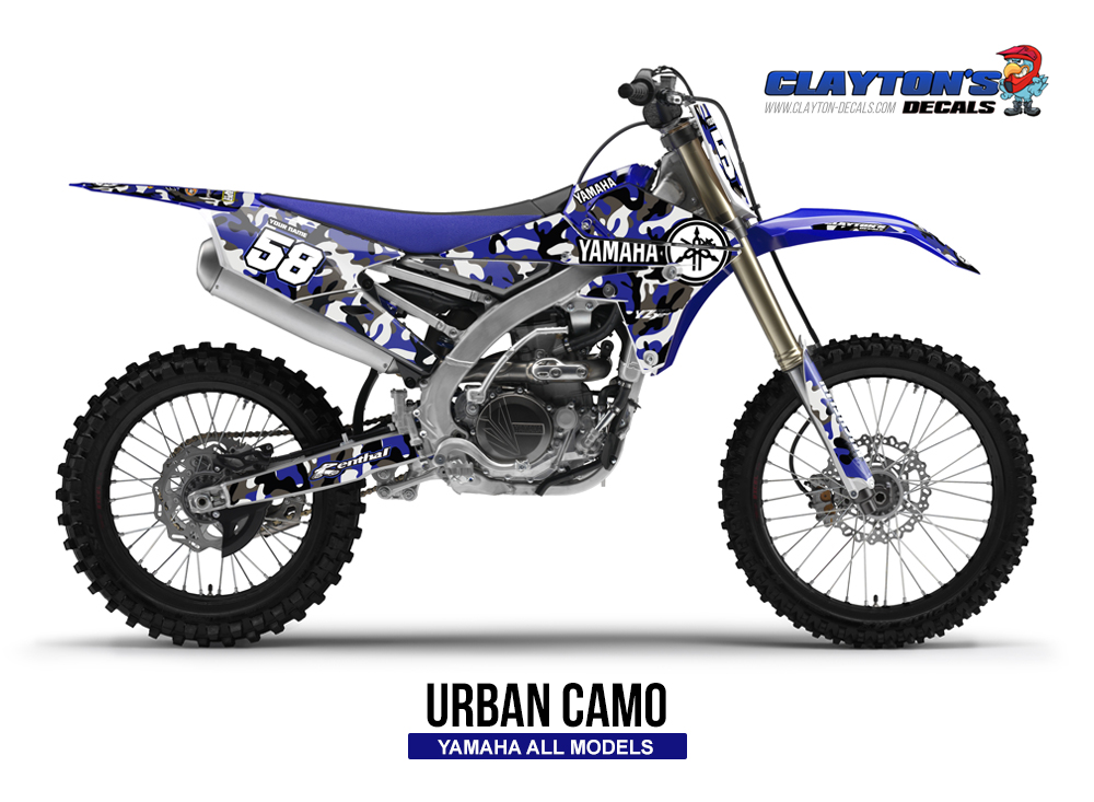 Yamaha MX Graphics - Urban Camo